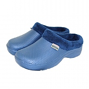 Town & Country Navy Fleecy Cloggies