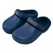 Town & Country Navy Fleece Lined Cloggies