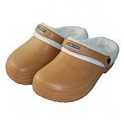 Town & Country Tan Fleece Lined Cloggies