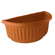 Corinthian Half Round Wall Basket - 2 Colours Available