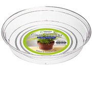 Clear Drip Saucers - 5 Sizes Available