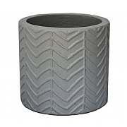 Ivyline Wave Cement Pot Cover Grey (Various Sizes)