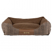Scruffs Windsor Box Dog Bed Chestnut