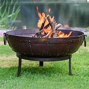 Recycled Kadai Firebowl with High Stand, Low Stand