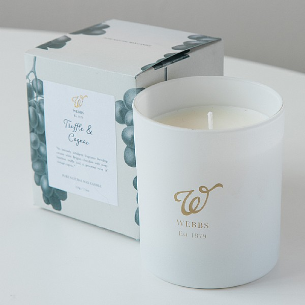 Webbs Truffle and Cognac Scented Candle